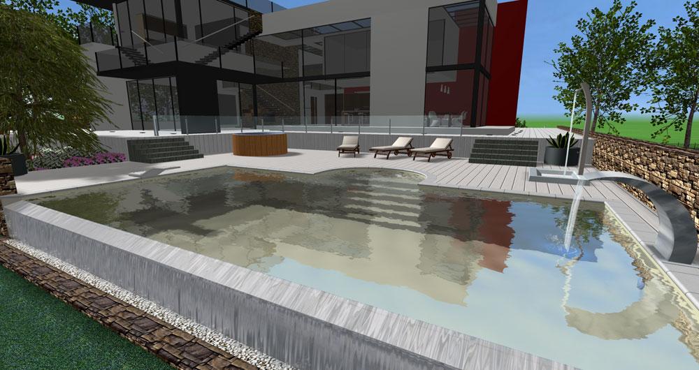 Aquadesigner nos projets piscines for Logiciel 3d piscine